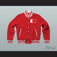 Bahrain Varsity Letterman Jacket-Style Sweatshirt