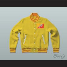 Bhutan Varsity Letterman Jacket-Style Sweatshirt