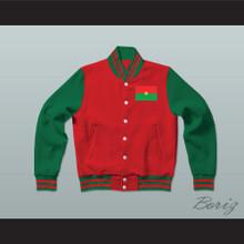 Burkina Faso Varsity Letterman Jacket-Style Sweatshirt