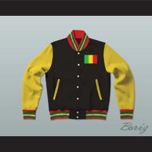 Mali Varsity Letterman Jacket-Style Sweatshirt