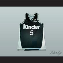 Sasha Danilovic Virtus Kinder Bologna Basketball Jersey Stitch Sewn