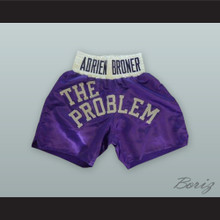 Adrien 'The Problem' Broner Purple Boxing Shorts