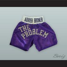 Adrien 'The Problem' Broner Purple Boxing Shorts