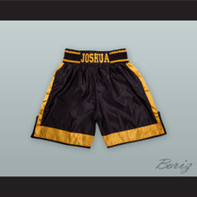 Anthony Joshua Black and Yellow Boxing Shorts