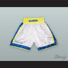 Billy Joe Saunders White Boxing Shorts