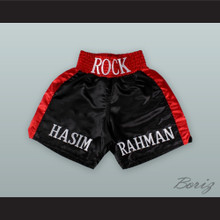 Hasim 'The Rock' Rahman Black and Red Boxing Shorts