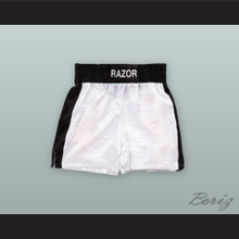 Henry 'Razor' Sharp White Boxing Shorts