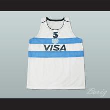 Manu Ginobili 5 Argentina Basketball Jersey White Stitch Sewn
