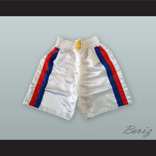Manny Pacquiao White Boxing Shorts