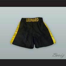 Sugar Ray Leonard Black and Yellow Boxing Shorts