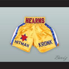 Thomas 'The Hitman' Hearns Kronk Star Yellow Boxing Shorts