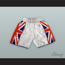 Anthony Joshua British Flag White Boxing Shorts