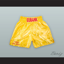Chris 'Simply The Best' Eubank Sr Yellow Boxing Shorts