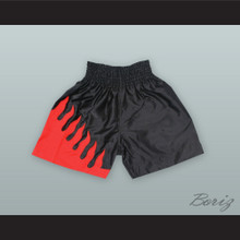 Flame Black and Red Boxing Shorts