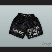 Iron Mike Tyson The Baddest Man on the Planet Black Boxing Shorts