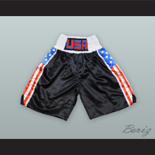USA United States of America Black Boxing Shorts
