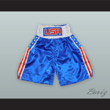 USA United States of America Blue Boxing Shorts
