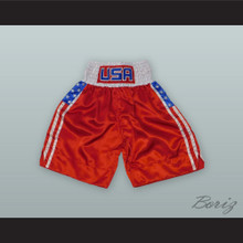 USA United States of America Red Boxing Shorts