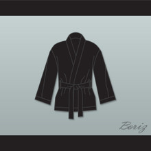 Floyd 'Money' Mayweather Jr Black Satin Half Boxing Robe