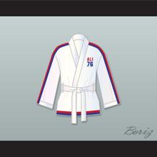 Muhammad Ali 76 White Satin Half Boxing Robe