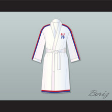 Muhammad Ali 76 White Satin Full Boxing Robe