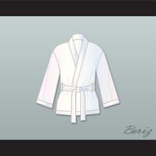 Muhammad Ali White Satin Half Boxing Robe