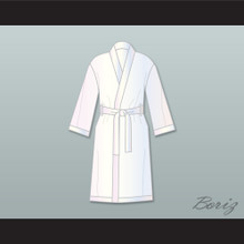 Muhammad Ali White Satin Full Boxing Robe