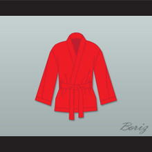 Ray 'Boom Boom' Mancini Red Satin Half Boxing Robe