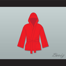 Ray 'Boom Boom' Mancini Red Satin Half Boxing Robe with Hood