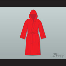 Ray 'Boom Boom' Mancini Red Satin Full Boxing Robe with Hood