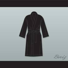 Sugar Ray Leonard Black Satin Full Boxing Robe
