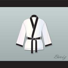 Rubin 'Hurricane' Carter White Satin Half Boxing Robe