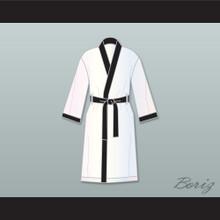 Rubin 'Hurricane' Carter White Satin Full Boxing Robe