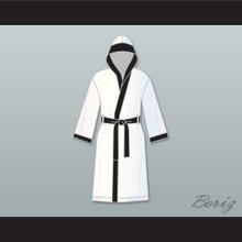 Rubin 'Hurricane' Carter White Satin Full Boxing Robe with Hood