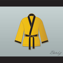 Evander 'Real Deal' Holyfield Gold Satin Half Boxing Robe