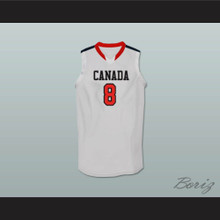 Andrew Wiggins Canada White Basketball Jersey