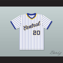 Dan Marino 20 Central Catholic High School Vikings Pinstriped Baseball Jersey