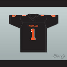 Julian Edelman 1 Woodside High School Wildcats Black Football Jersey