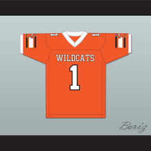 Julian Edelman 1 Woodside High School Wildcats Orange Football Jersey