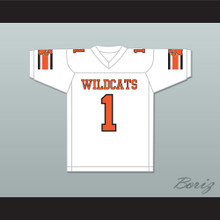 Julian Edelman 1 Woodside High School Wildcats White Football Jersey