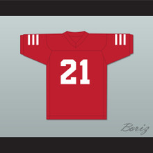 Julian Edelman 21 Redwood City 49ers Red Football Jersey