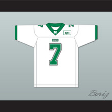 Byron Leftwich 7 Marshall Herd White Football Jersey