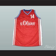 Dirk Nowitzki DJK Wurzburg Basketball Jersey Stitch Sewn