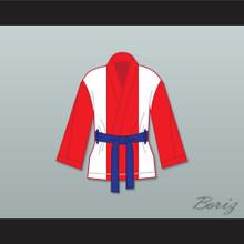 Miguel Cotto Puerto Rican Flag Satin Half Boxing Robe