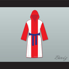 Miguel Cotto Puerto Rican Flag Satin Full Boxing Robe with Hood