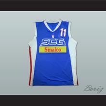 Zeljko Rebraca 11 Serbia and Montenegro Basketball Jersey Stitch Sewn