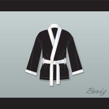 Joe Calzaghe Black Satin Half Boxing Robe