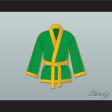 Smokin' Joe Frazier Green Satin Half Boxing Robe
