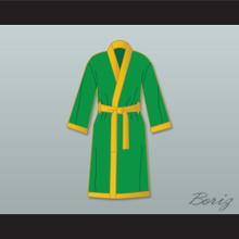Smokin' Joe Frazier Green Satin Full Boxing Robe