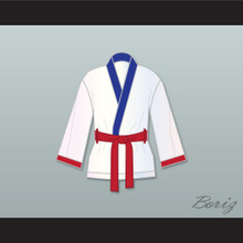 'Irish' Micky Ward White Satin Half Boxing Robe